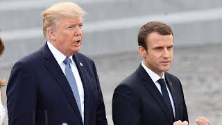Macron visits the US to discuss issues on Syria, Iran and trade tariffs