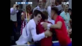 احتفال كاراسكو بهدف التعادل في ريال مدريد ..