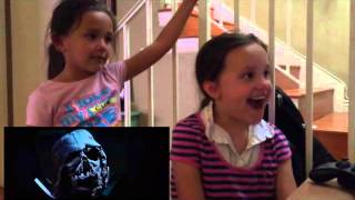 Star Wars: The Force Awakens Trailer Kids Reaction!!!!