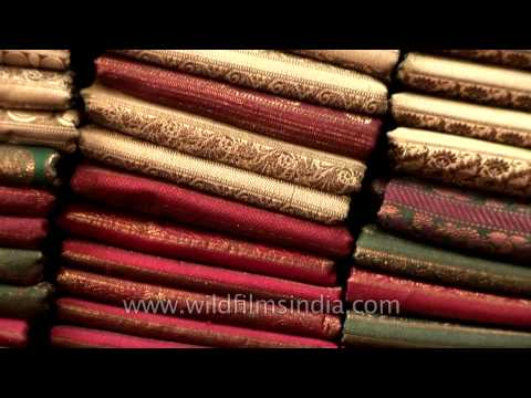 Exclusive golden border Banarasi saree on sale