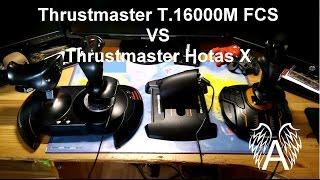Test comparatif Joystick Thrustmaster T.16000M FCS avec palonnier !!
