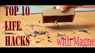 Top 10 Life Hacks With MAGNETS for Your Simplify Life!