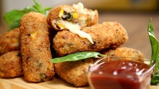 Potato Croquettes Recipe | Easy To Make Snack Recipe | The Bombay Chef - Varun Inamdar