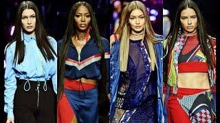 Adriana Lima, Naomi Campbell, Gigi & Bela Hadid - Versace Spring/Summer 2017