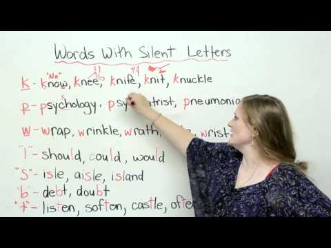 Spelling & Pronunciation - Words with Silent Letters