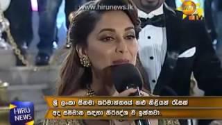 Madhuri Dixit Nene at Hiru Golden Film Awards 2016