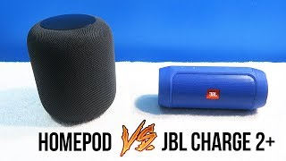 Apple HomePod vs JBL Charge 2+ • Sound Comparison!