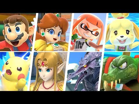 Super Smash Bros Ultimate All 74 Characters Gameplay Final Smashes