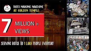 Roti making machine at Golden Temple, Amritsar