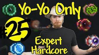 Terraria Yo-Yo Only Expert Hardcore #25 - WoF Practice! (softcore)