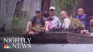 Hurricane Harvey recovery slow for many of the 900,000 Texans affected | NBC Nightly News