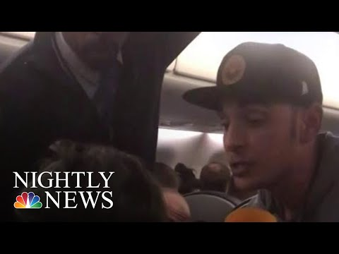 Good Samaritan On Flight Helps Young Mother Having Seizures | NBC Nightly News