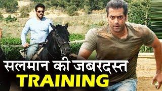 Salman Khan की TIGER ZINDA HAI  के लिए जोरदार HORSE TRAINING - देखिए Video