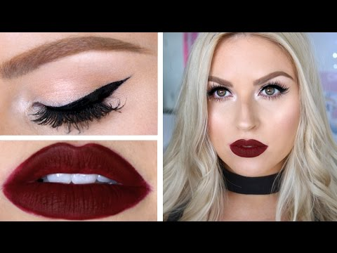 Classic Deep Red Lips & Cat Eye Liner! ♡ Chit Chat GRWM!