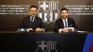 رسمياً برشلونة يعلن عن تمديد عقد ميسي حتى 2021 وبشرط جزائي خرافي