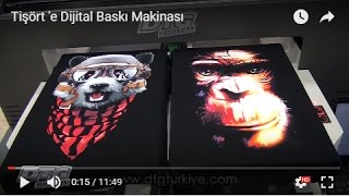 Tişörte Dijital Baskı Makinesi - Digital Printing on T-shirt