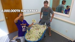 Surprising My 8,000,000th Subscriber With 8,000,000 ___