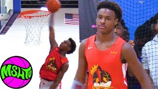 BRONNY FIRST IN GAME DUNK - LeBron James Jr Dunks in AAU for 1st Time