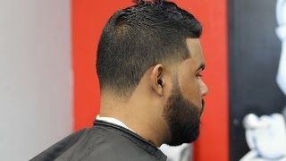 Fohawk with bald taper/blowout with beard tutorial