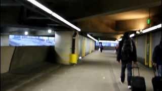 Walking in SeaTac Airport to Sound Transit's Link Light Rail Station
