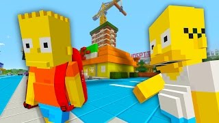 Bart Simpson Runs Away From Home | The Simpsons | Minecraft Xbox [39]