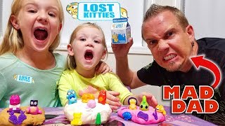 LOST KITTIES Toy Scavenger Hunt! Crazy Dad Hides Our New Toys!!!