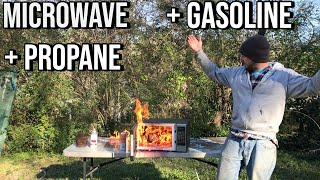Propane, Gasoline, and Ether in Microwave