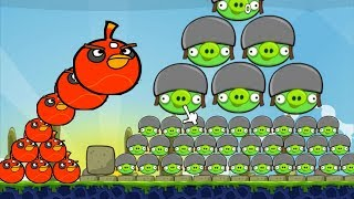 Huge Angry Birds - SKILL GAME BLAST PIGGIES MOUNTAIN WITH BOMBER!