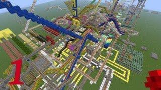 Minecraft La Montaña Rusa 1ª PARTE ¡¡¡¡IMPRESIONANTE Y ESPECTACULAR¡¡¡¡-RollerCoaster.