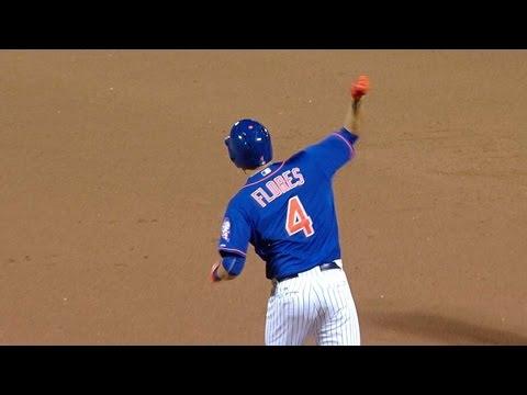 Flores drills walk off homer to left center