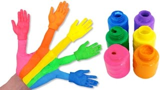 Learn Colors for Children Painted Hands Toys Finger Family Nursery Rhymes Video RL