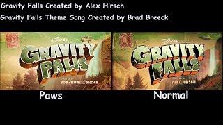 Gravity Falls Intro Normal/Paws Comparison