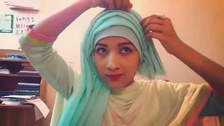 Five Layered Hijab tutorial | Layered Hijab tutorial | Riku Haque