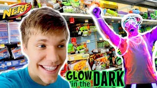 Glow in the Dark NERF WAR PARTY ?! SHK Family