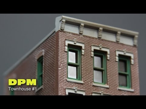 Model Railroad Layout Building DPM Townhouse 1 How To