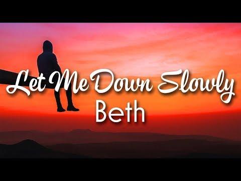 Alec Benjamin Let Me Down Slowly Lyrics Beth Acoustic Cover