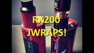 Wismec Reuleaux RX200 Unboxing and DEADPOOL Jwrap tutorial