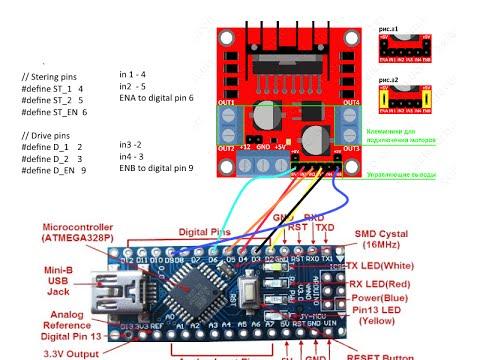 Машинка на блютуз управлении на arduino mini