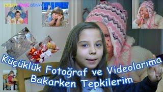 Küçüklük Fotoğraflarıma Videolarıma Bakarken Tepkilerim - Eğlenceli Çocuk Videosu Funny Kids Videos