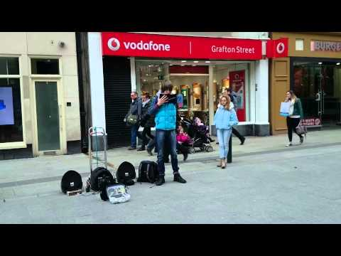 Time To Say Goodbye A brilliant busker in Dublin