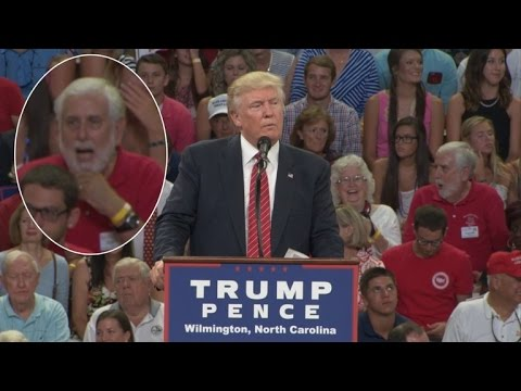 watch Man Caught Gasping Over Trump's Second Amendment Comment Denies Being Upset