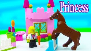LEGO Princess Girl Rider Pink Castle Horse Stable Care Jumps Playset Bricks & More My First Set