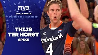 Ter Horst ends great rally with hard spike - World League 2017