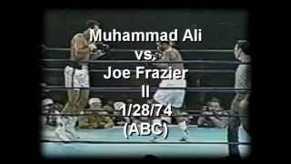 Joe Frazier -vs- Muhammad Ali II 1/28/74  (abc) part 1