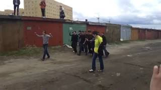 Russian Hooligans Fight. Loko Russian vs Legion Mongolian