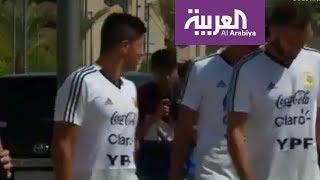 لاعبو منتخب الأرجنتين يزورون المصمك.. شاهد ردة الفعل