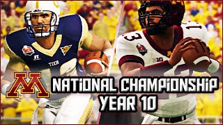 NCAA Football 14 Dynasty Season 10 - National Championship vs #1 Georgia Tech