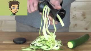 Gefu Spirelli Handheld Spiral Slicer Demonstration in the Raw Nutrition Kitchen