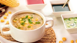 Chicken Corn Soup Recipe (Street Style) With Homemade Chicken Stock By SooperChef