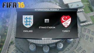 FIFA 16 - England National Team vs. Turkey National Team @ Etihad Stadium